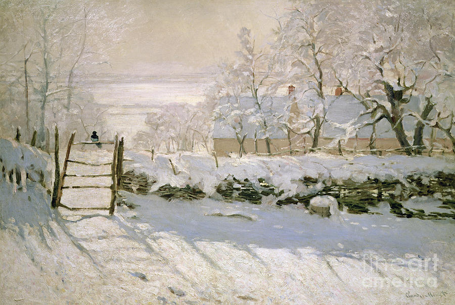 The Painting - The Magpie by Claude Monet