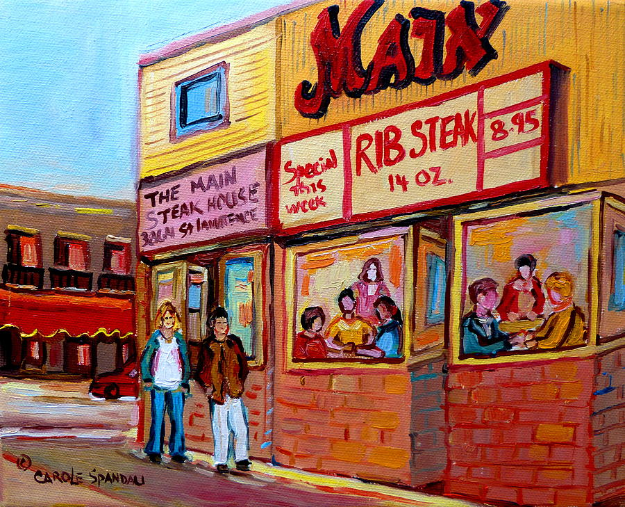 The Main Steakhouse Painting - The Main Steakhouse On St. Lawrence by Carole Spandau