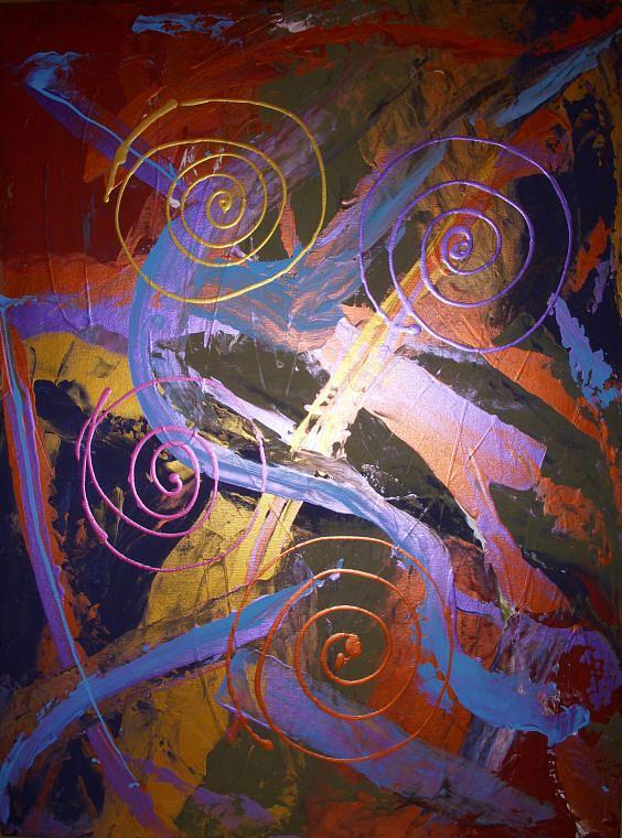 Abstract Painting - The Majestic by Joey Santiago