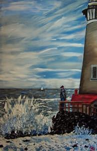 The Man And The Sea Painting by Ira Stark