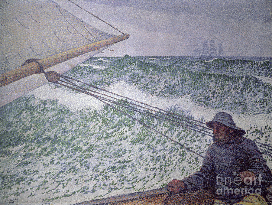 Herman Melville Painting - The Man At The Tiller by Theo van Rysselberghe