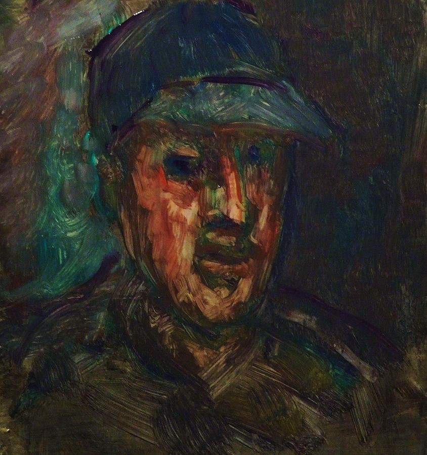 Portrait Painting - The Man In The Cap by Jean pierre  Harixcalde