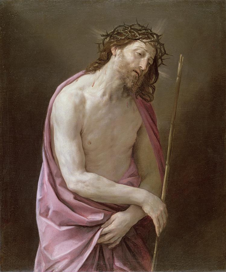 Crown Of Thorns Painting - The Man Of Sorrows by Guido Reni