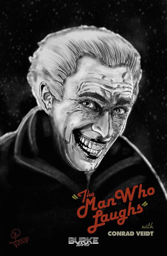 The Joker Digital Art - The Man Who Laughs by Joseph Burke