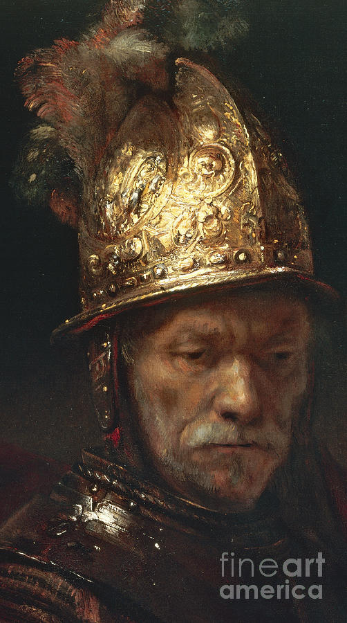 Rembrandt Painting - The Man With The Golden Helmet by Rembrandt