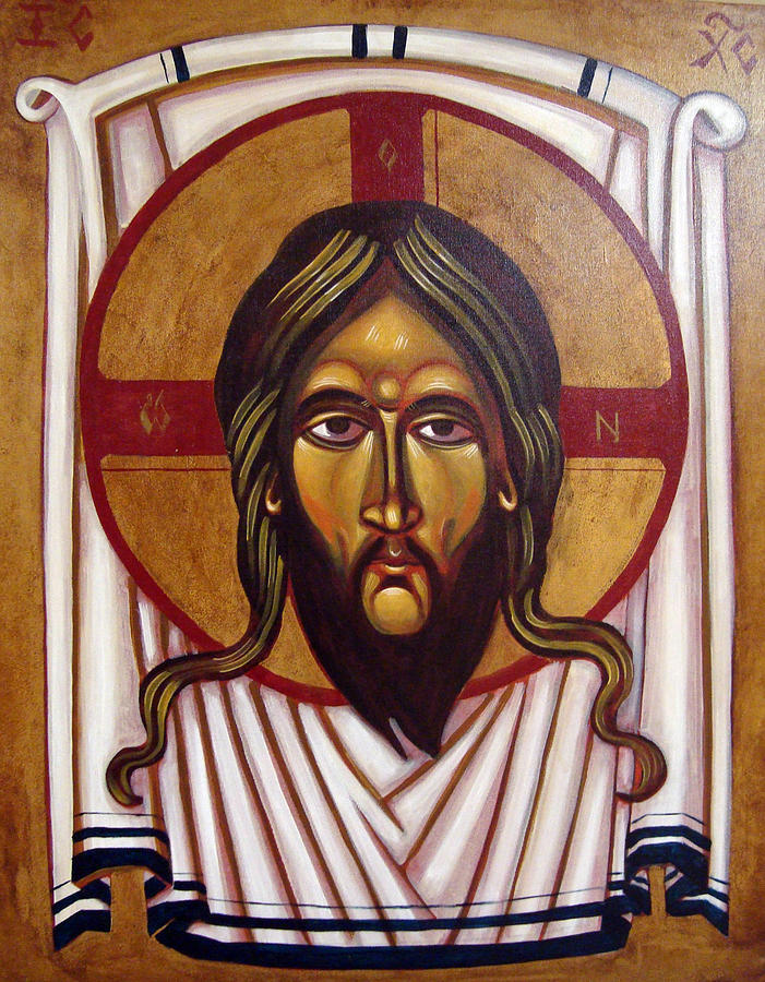Icon Painting - The Mandylion by Joseph Malham