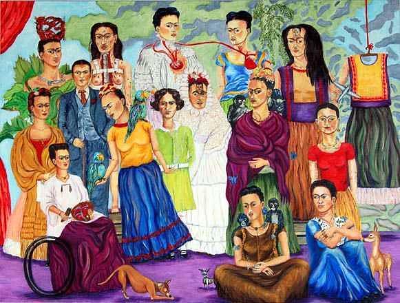 The Many Fridas Painting by Cynthia Fraula-hahn