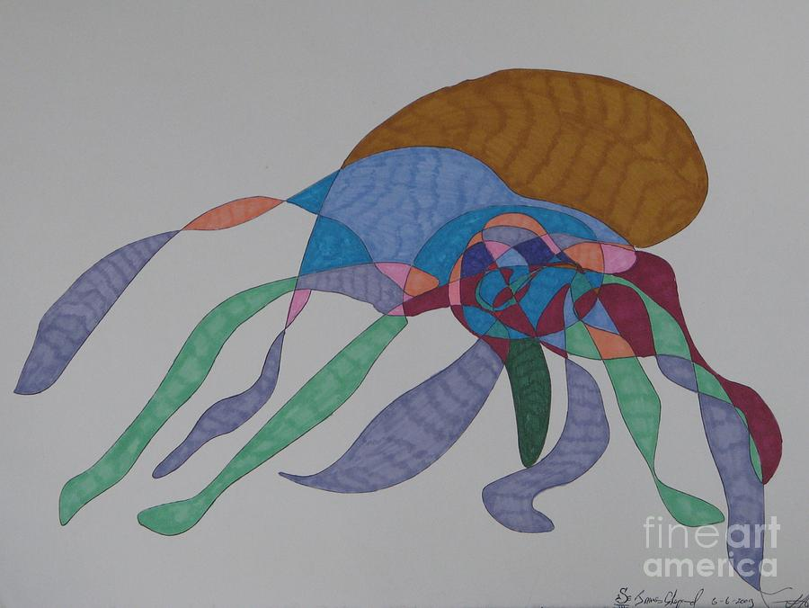 Abstract Octopus Mixed Media - The Many Legged Octopus Of Puget Sound by James Sheppard
