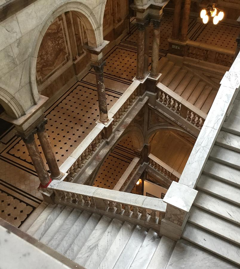 Marble Photograph   The Marble Staircase By Lyn Steuart