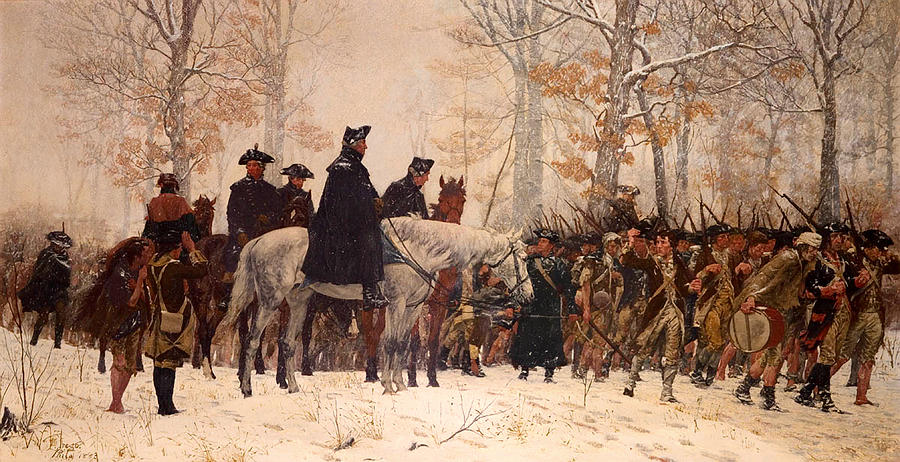 Painting Painting - The March To Valley Forge by Mountain Dreams