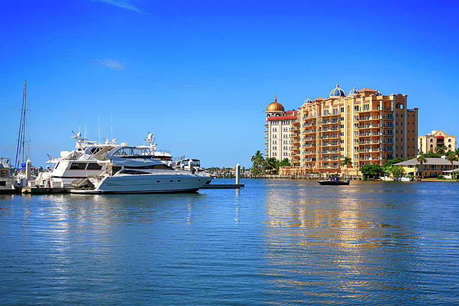 Marina Photograph - The Marina Sarasota Fl by Chris Smith