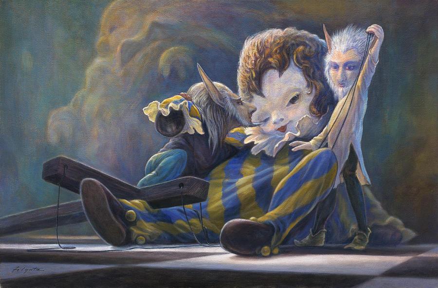 Fantasy Painting - The Marionette by Leonard Filgate