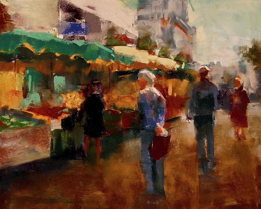 Market Pastel - The Market by David Patterson