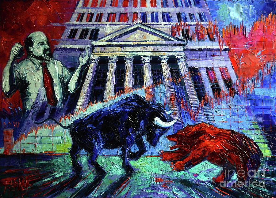 The Market Painting - The Market by Mona Edulesco