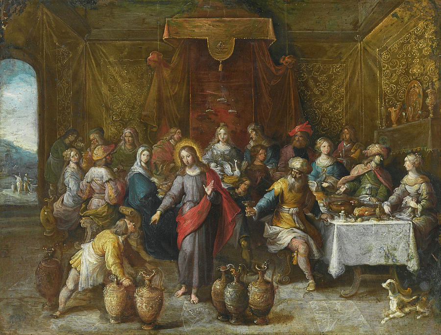 Wedding Feast At Cana.The Marriage Feast At Cana
