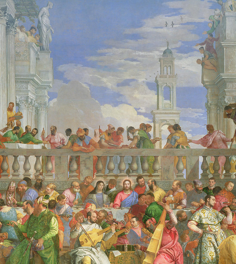 The Marriage Feast At Cana Painting by Veronese