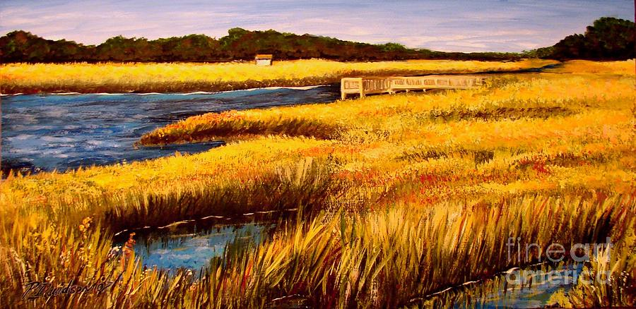 Beaches Painting - The Marsh At Cherry Grove Myrtle Beach South Carolina by Patricia L Davidson