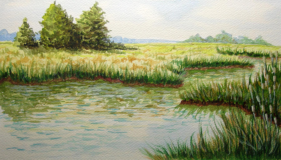 Landscape Painting - The Marshes by JoAnne Castelli-Castor