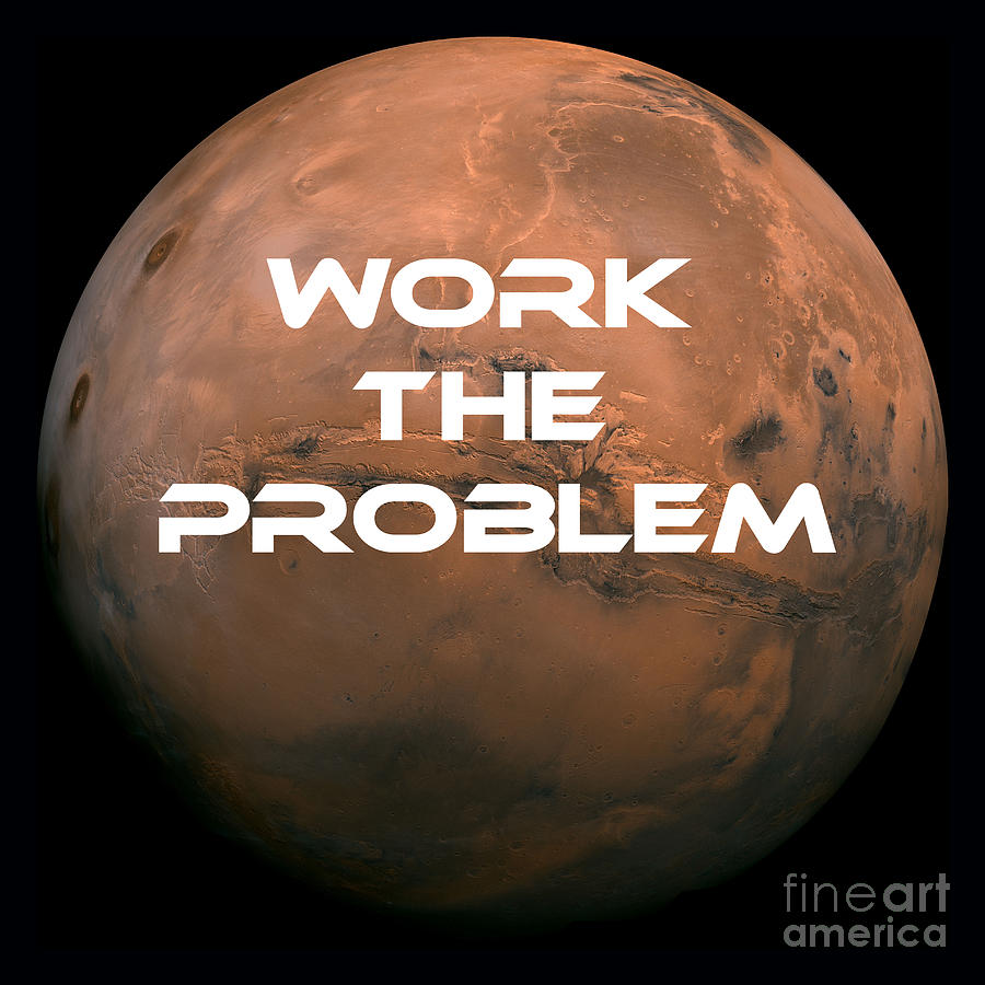 Work Photograph - The Martian Work The Problem by Edward Fielding