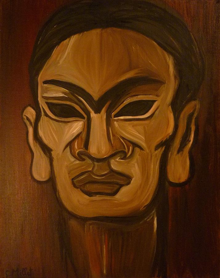 Frida Kahlo Painting - The Mask Of Frida 2 by Cindy MILLET