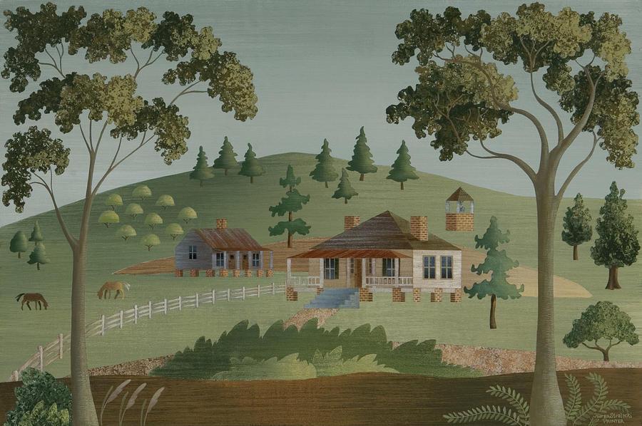 Americana Painting - The Mason House by Karen Strelecki