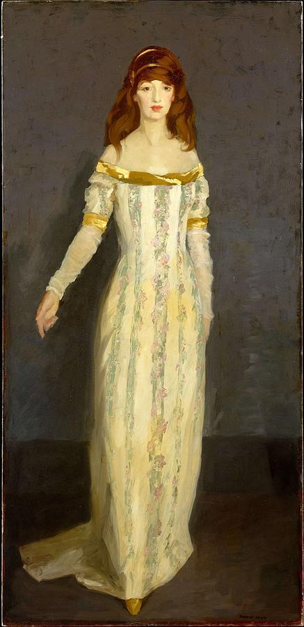 The Masquerade Dress , Robert Henri Painting