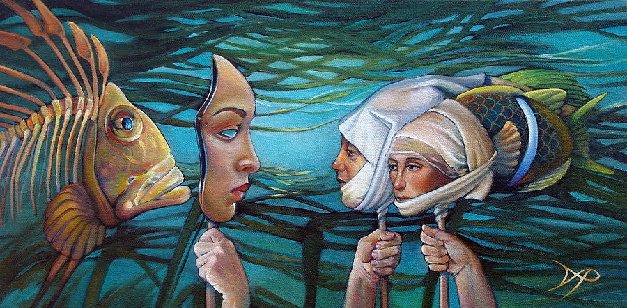 Mermaid Painting - The Masqueradeum by Patrick Anthony Pierson