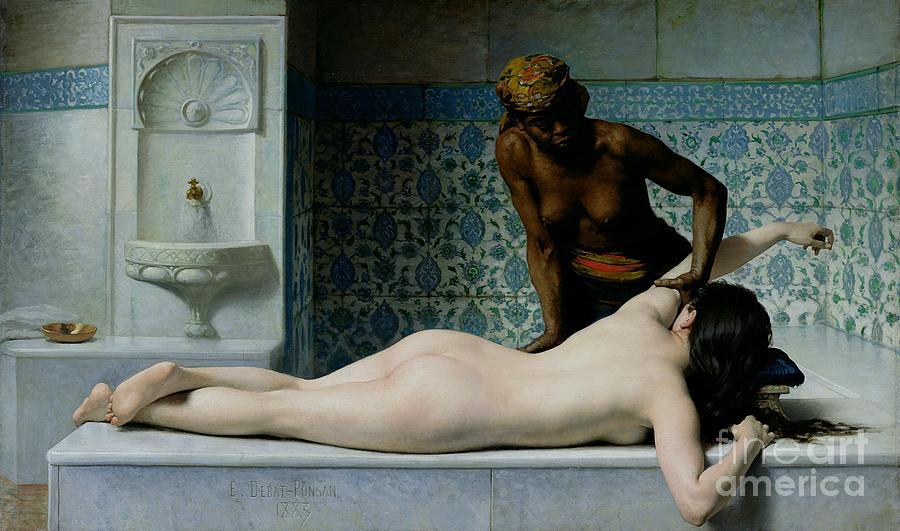 The Painting - The Massage by Edouard Debat-Ponsan