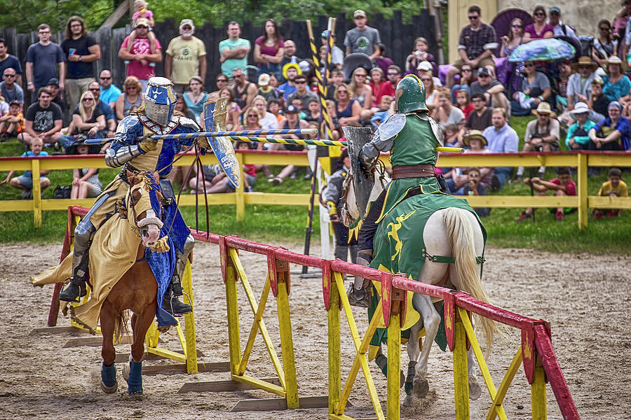 Knights Photograph - The Match by Lorraine Baum