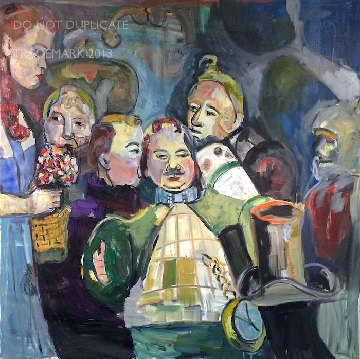 The Mayor Wizard Of Oz Painting by Navahjo Stoller