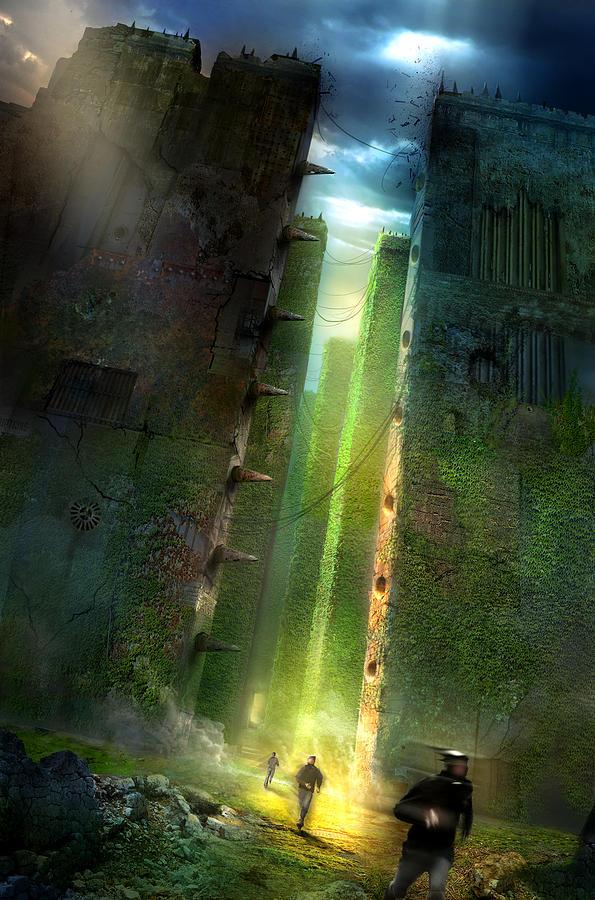 Philip Straub Painting - The Maze Runner by Philip Straub