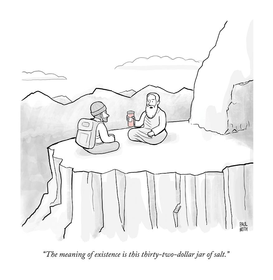 The Meaning Of Existence Is This Jar Of Salt Drawing by Paul Noth