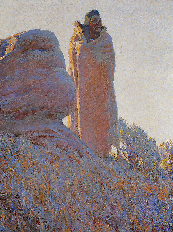 Maynard Dixon Painting - The Medicine Robe by Maynard Dixon
