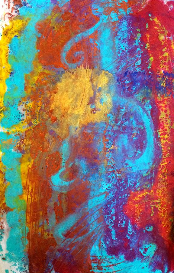 Abstract Painting - The Mediterranean Dance by Christine Johanns