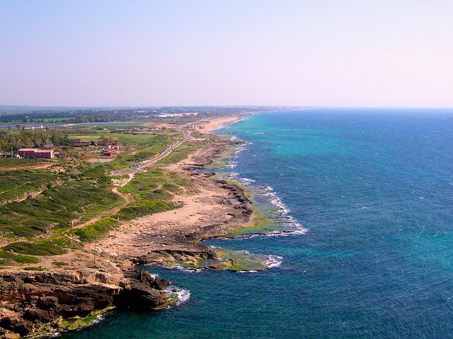 Israel Photograph - The Mediterranean From Rosh Hanikra by Susan Heller