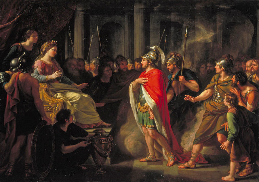 the meeting of dido and aeneas painting by nathaniel dance