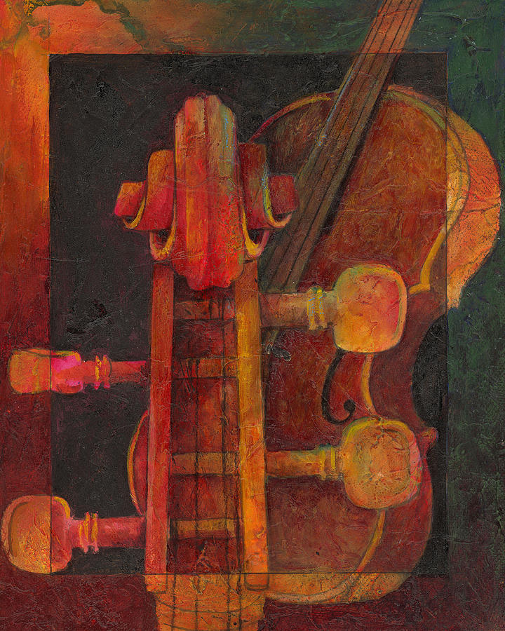 Cello Painting - The Mellow Cello by Susanne Clark