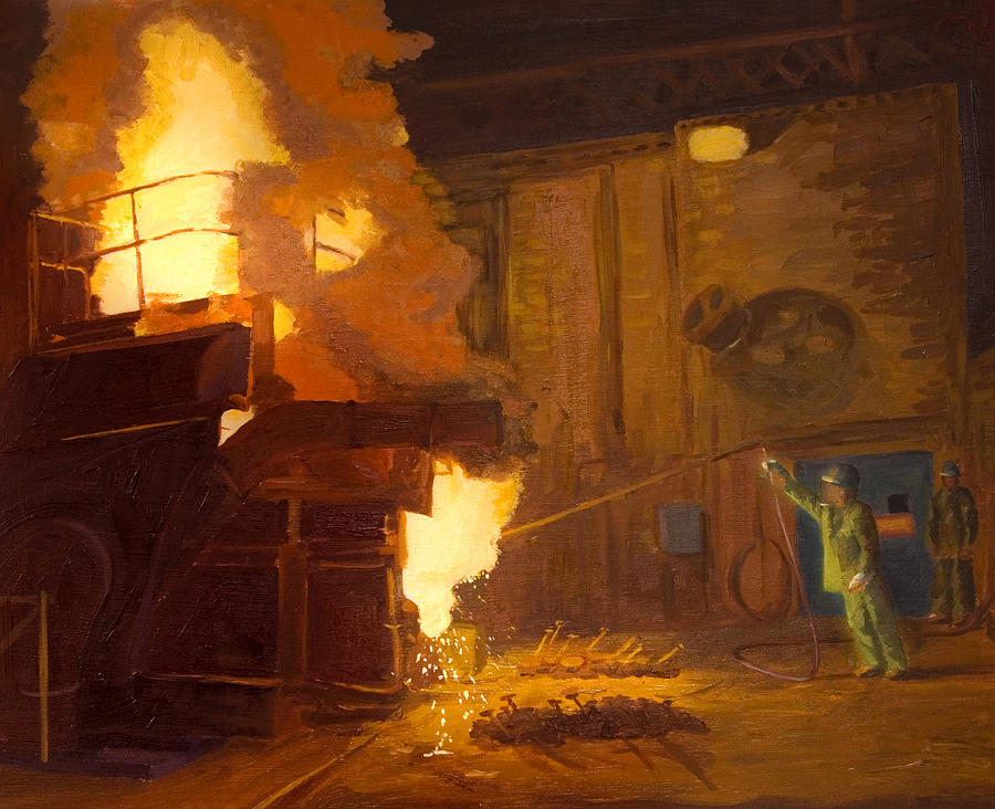 Industry Painting - The Melter by Martha Ressler