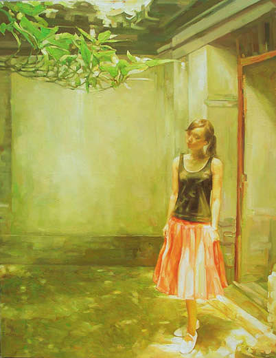 Girl Painting - the memories of Afternoon    by Shaojun Li