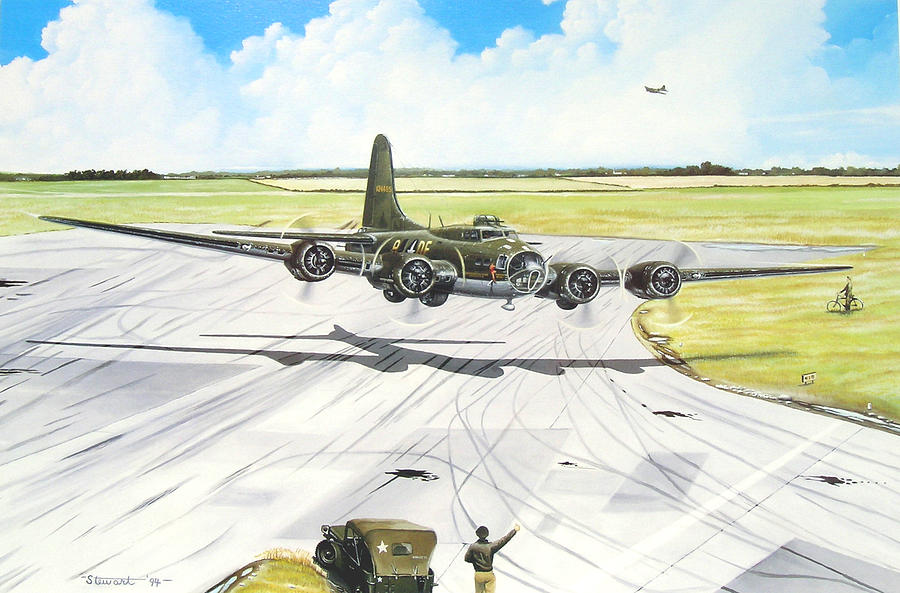 Military Painting - The Memphis Belle by Marc Stewart