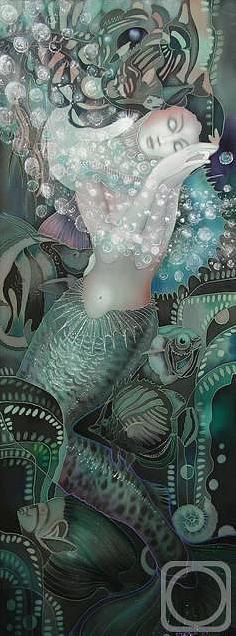 Impressionism Painting - the Mermaid by  Sokolova Nadezhda