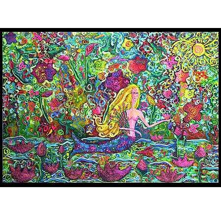 The Mermaids Garden Mixed Media by Vanna Weinberg