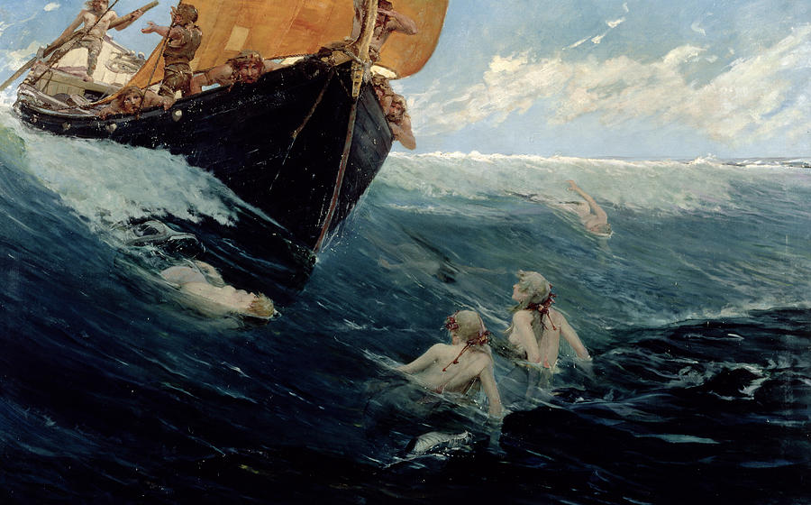 The Mermaid's Rock Painting by Edward Matthew Hale