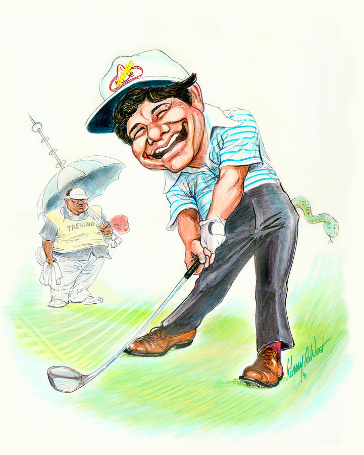 Lee Trevino Drawing - The Merry Mex by Harry West
