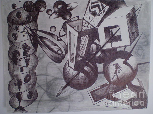 Abstract Drawing - The Mess by Fabio Cedeno