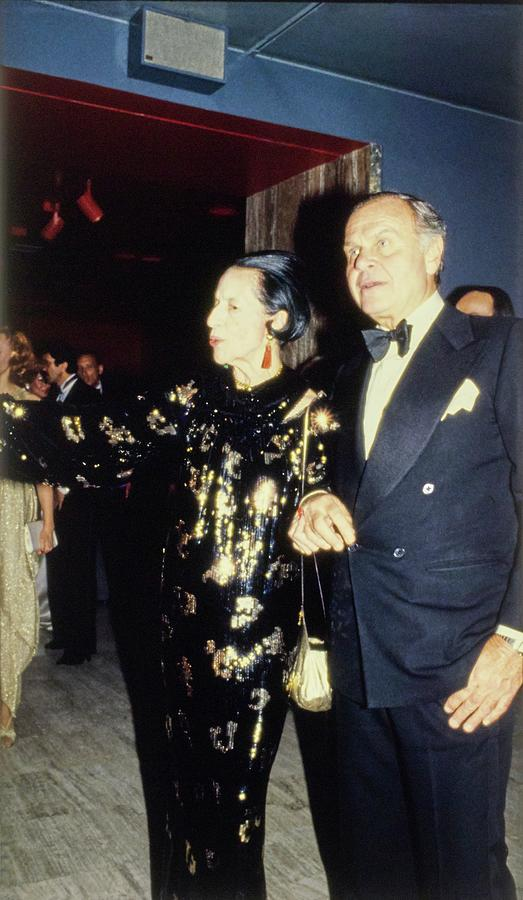 The Met Set Diana Vreeland and Bill Blass Photograph by Tony Palmieri