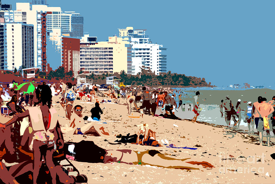Miami Beach Florida Photograph - The Miami Beach by David Lee Thompson