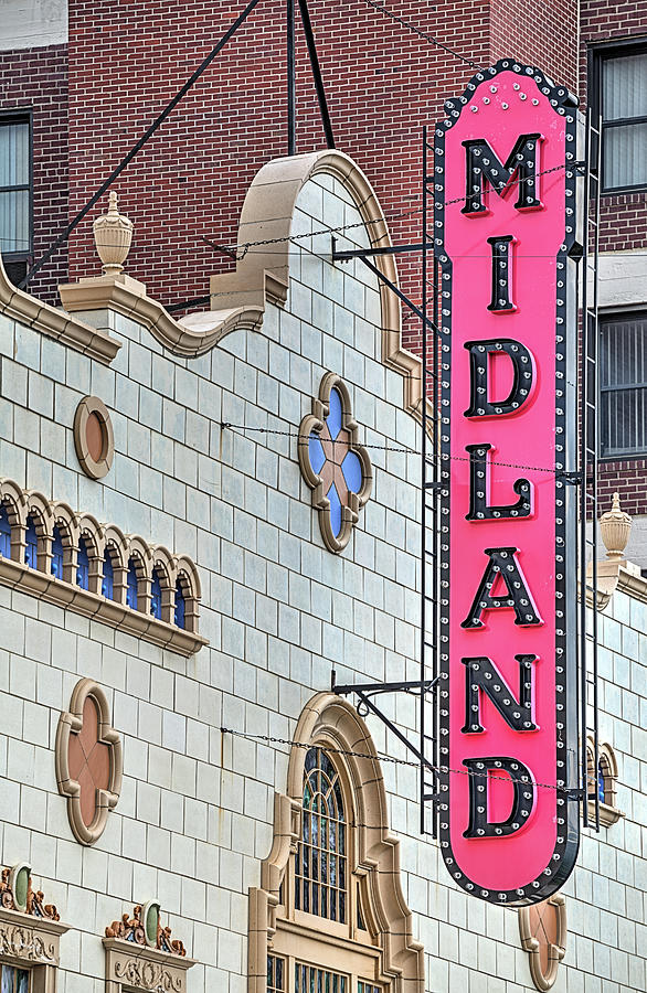 Coffeyville Photograph - The Midland Theater  by JC Findley