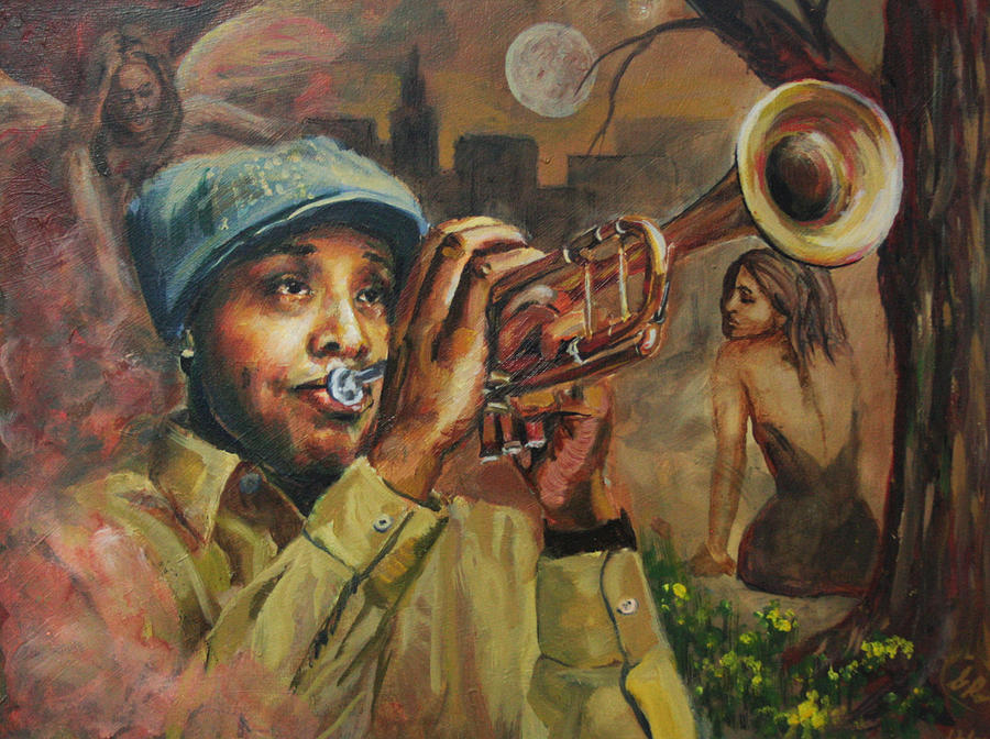 Jazz Painting - The Midnight Muse 2.1 by Gary Williams