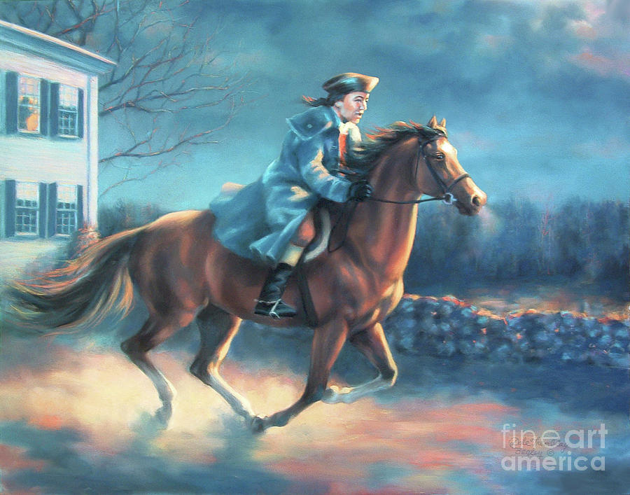 the midnight ride of paul revere painting by dale tremblay